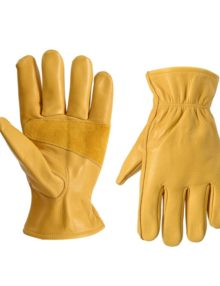 driver-working-leather-gloves-cowhide-palm-soft&strong-orange