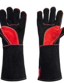 welding-leather-gloves-black&bright-red